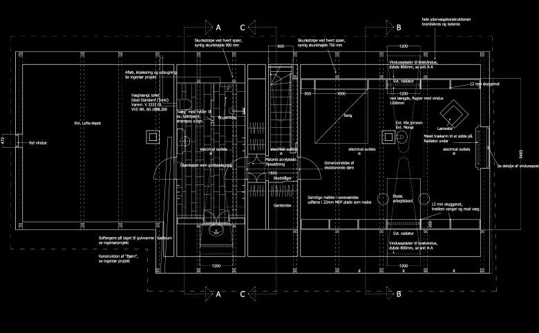 Ombygning af landhus på Østmøn - Arkitekturværkstedet - Hans Peter Hagens - Arkitekt - København
