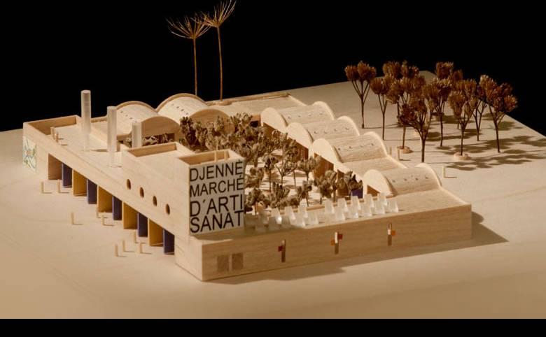 Marked for kunsthåndværk i Djenné, Mali - Arkitekturværkstedet - Hans Peter Hagens - Arkitekt - København