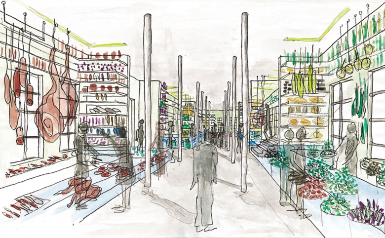 Torvehalsprojekt til Kolding - Arkitekturværkstedet - Hans Peter Hagens - Arkitekt - København