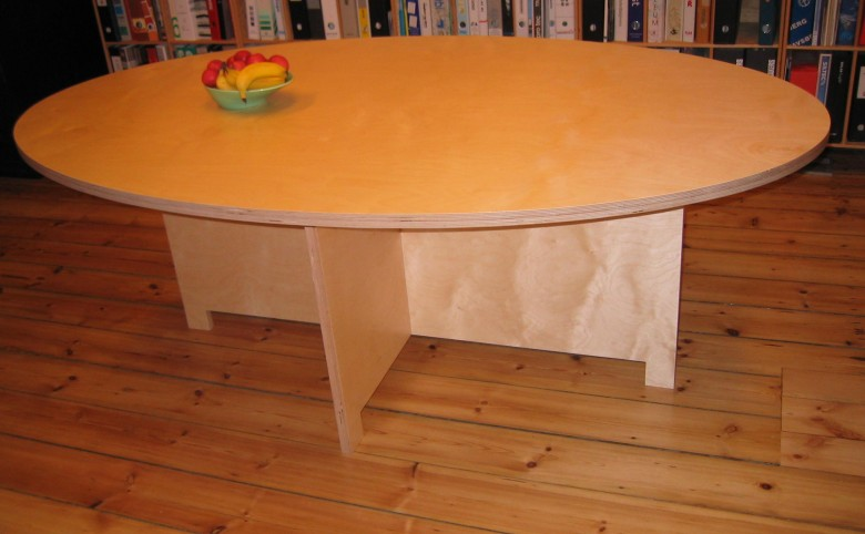Mødebord i birketræ - Arkitekturværkstedet - Hans Peter Hagens - Arkitekt - København