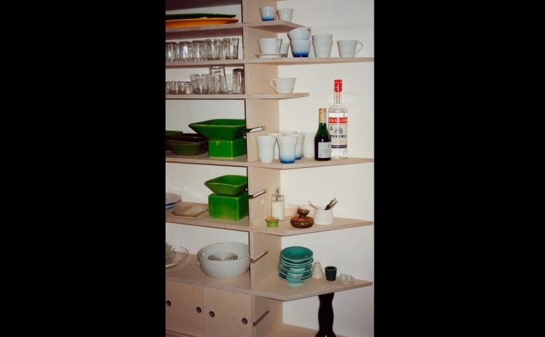 Reol-system i birketræ - Arkitekturværkstedet - Hans Peter Hagens - Arkitekt - København